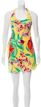 Ralph Lauren Floral Print Halter Dress