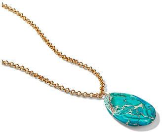 Nest Jasper Pendant Necklace - Blue
