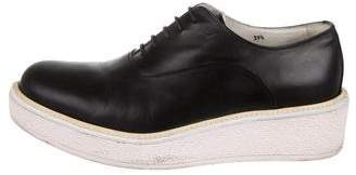 Celine Platform Leather Oxfords