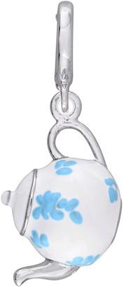 Laura Ashley Jewelry Sterling Teapot Enamel Charm