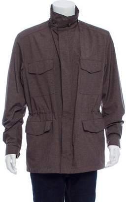 Loro Piana Storm System Woven Zip-Up Jacket