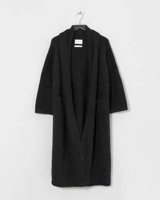LAUREN MANOOGIAN Black Long Shawl Cardigan