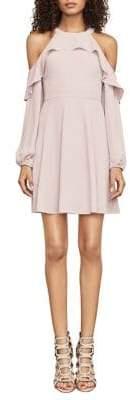 BCBGMAXAZRIA Katryna Cold-Shoulder A-Line Dress