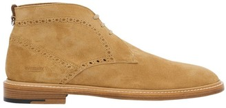 Brogue Detail Suede Boots