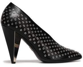 Michael Kors Eyelet-embellished Leather Pumps