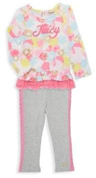 Juicy Couture Little Girl's 2-Piece Floral Tunic and Leggings Set