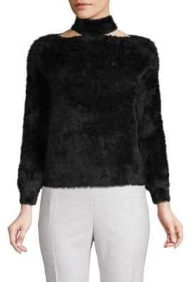 Choker Faux Fur Sweater