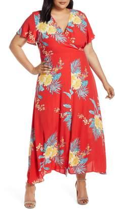 Leith Floral Print Maxi Dress