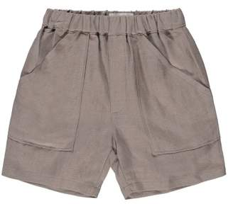 Chocolate Soup Linen Shorts with Pockets