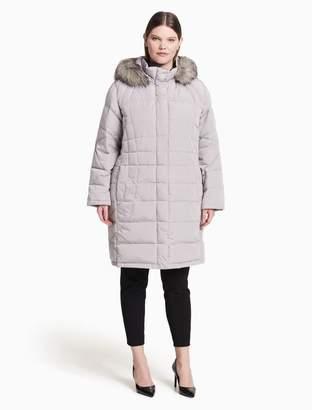 Calvin Klein plus size long puffer jacket