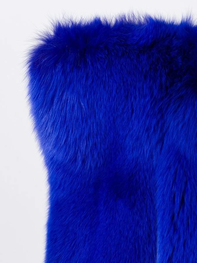Saint Laurent exaggerated shoulder coat