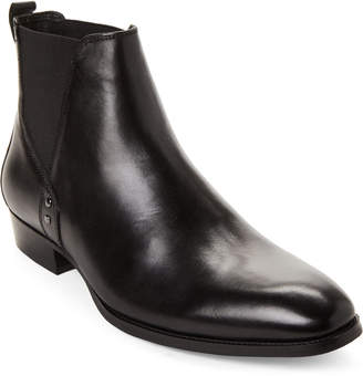 Steve Madden Black Simon Leather Chelsea Boots