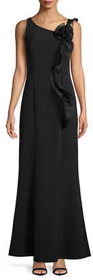 Karl Lagerfeld PARIS Floral Shoulder Sleeveless Gown