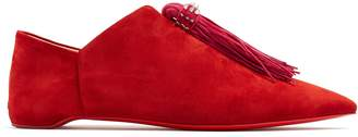 Christian Louboutin Mediana suede backless slipper shoes