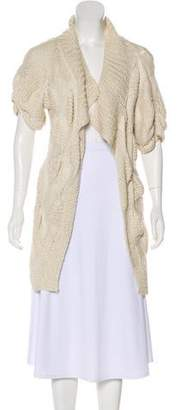 Stella McCartney Rib Knit Open Front Cardigan