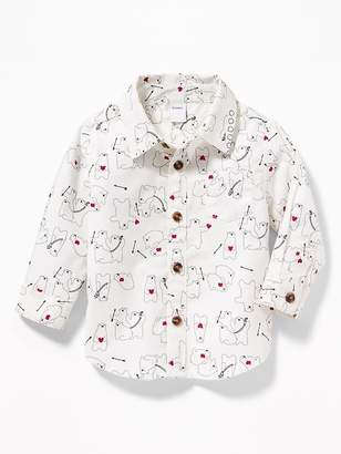 Old Navy Button-Front Poplin Pocket Shirt for Baby