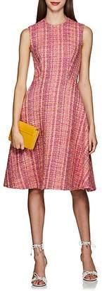 Prada Women's Wool Bouclé Tweed Sheath Dress - Pink