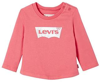 Levi's Kids Baby Girls' Nm10544 T-Shirt,(Manufacturer Size: 12M)