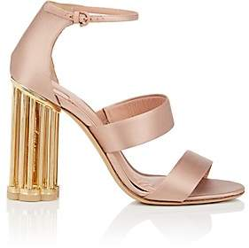 Salvatore Ferragamo Women's Caged-Heel Satin Sandals - Pink