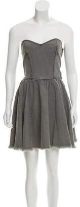 Current/Elliott Strapless Denim Dress