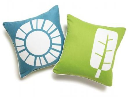 Boodalee World Throw Pillow - in Teal