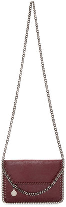 Stella McCartney Burgundy Mini Falabella Shaggy Deer Bag $625 thestylecure.com