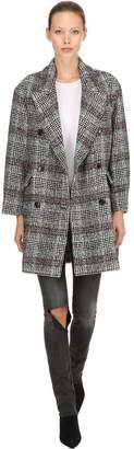 Etoile Isabel Marant Ebra Wool Blend Plaid Coat