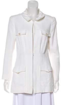 Chanel Tweed Zip-Up Jacket