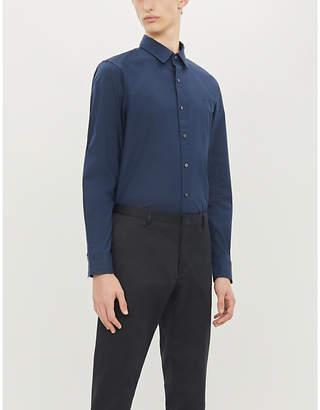Michael Kors Slim-fit cotton-blend poplin shirt