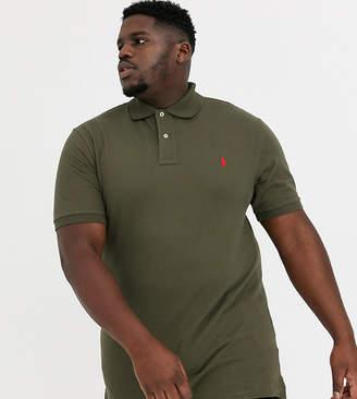 Polo Ralph Lauren Big & Tall icon logo pique polo in defender green