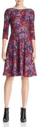 Leota Ilana Floral Jacquard Dress