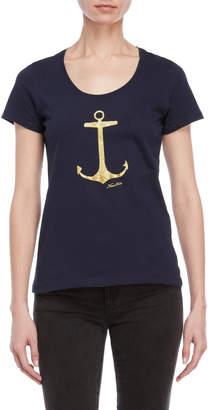 Nautica Glitter Anchor Tee
