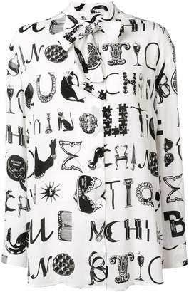 Moschino Ornamental Letters print blouse