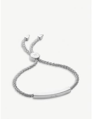 Monica Vinader Linear woven silver friendship bracelet