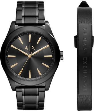 Armani Exchange Men's Stainless Steel Bracelet Watch 44mm AX7102 Gift Set