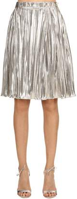 Ingie Paris PLEATED LAME SKIRT