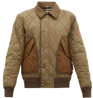 Burberry Chilton Quilted Bomber Jacket - Mens - Khaki
