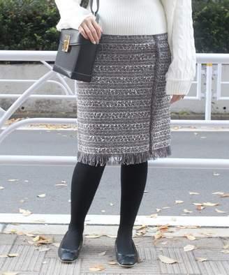 Limitless Luxury (リミットレス ラグジュアリー) - Limitless Luxury フリンジツイードタイトスカート