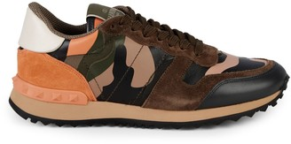 Stuart Weitzman Valentino Garavani Camouflage-Print Lace-up Sneakers
