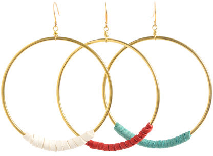 Nugaard Designs Leather Hoop Earrings