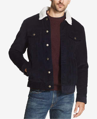 Weatherproof Vintage Men's Corduroy Fleece-Lined Trucker Jacket