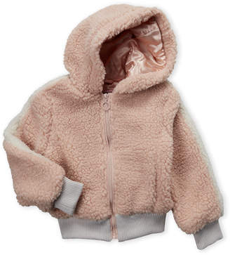Urban Republic Girls 4-6x) Pink Hooded Faux Fur Jacket