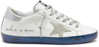 Golden Goose 'Superstar' slogan print leather sneakers