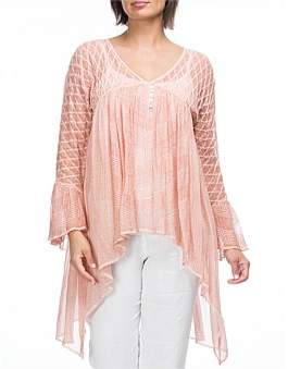 Hammock and Vine Embroidered Tunic