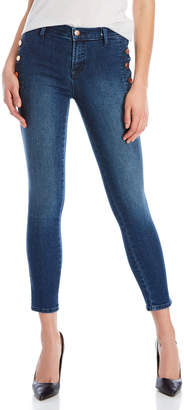 J Brand Button Mid-Rise Skinny Jeans