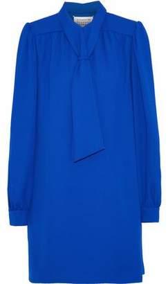 Maison Margiela Tie-Front Crepe Mini Dress