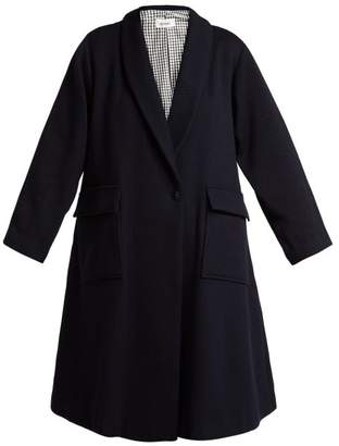 Chimala Single Breasted Wool Coat - Womens - Navy