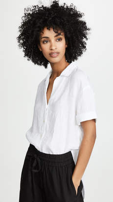 Three Dots Linen Short Sleeve Shirt