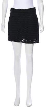 Frame Mesh Mini Skirt