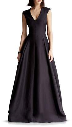 Halston Faille Structured Gown